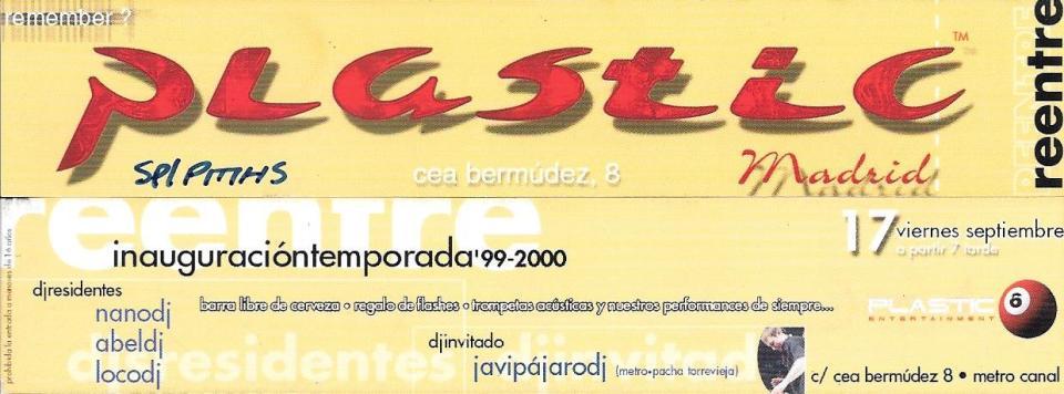 Plastic - 1999-09-17 Inauguracion temporada 99-00
